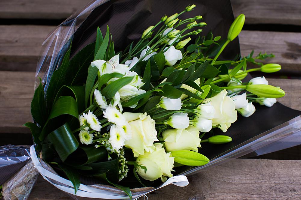 Bouquet lys blanc