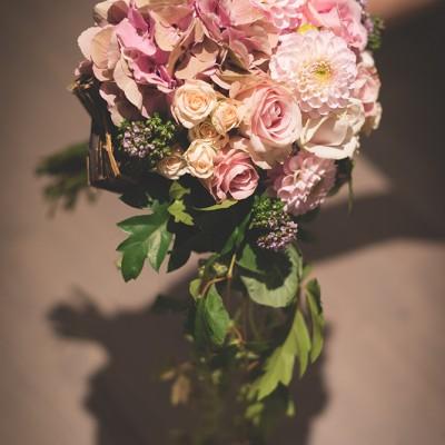 Bouquet mariage vieux rose