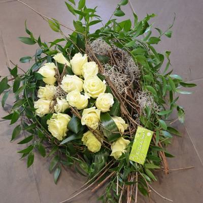 bouquet funéraille blanc