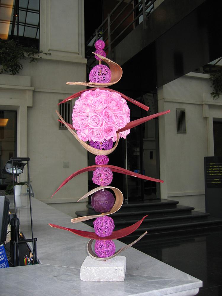 Art floral rose