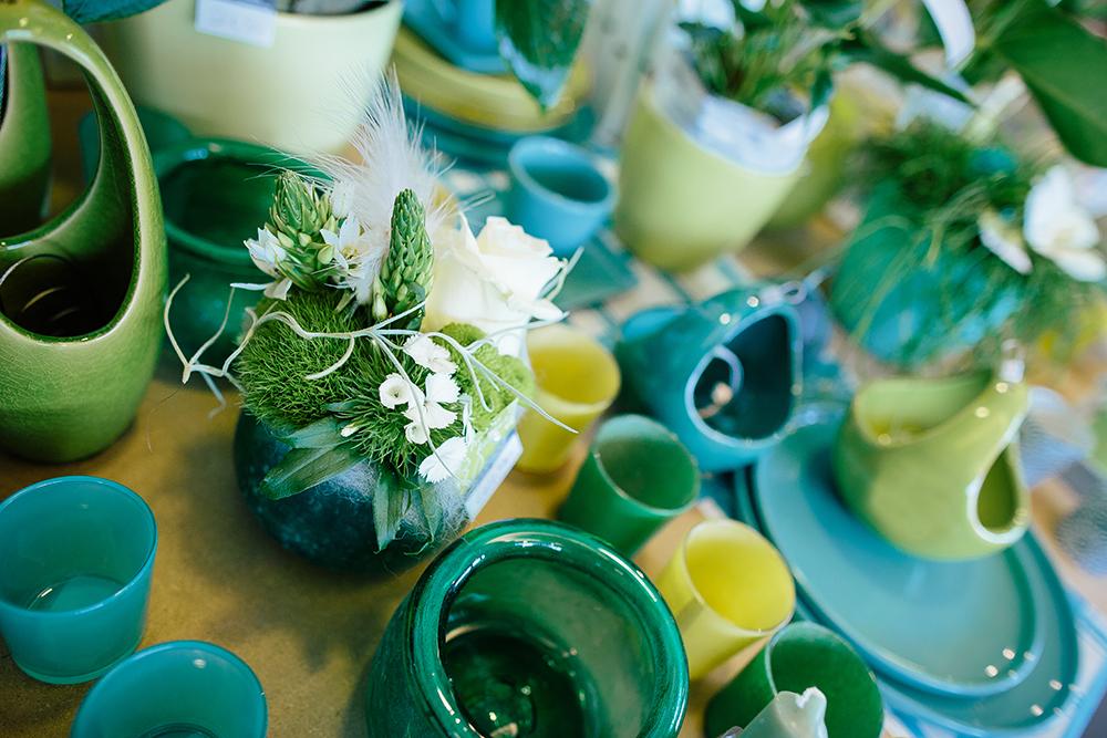 Décoration pot vert