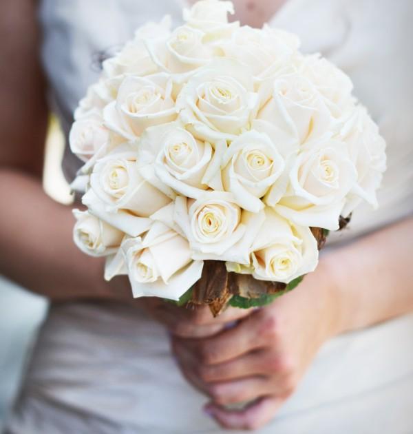 Bouquet de mariée roses blanche