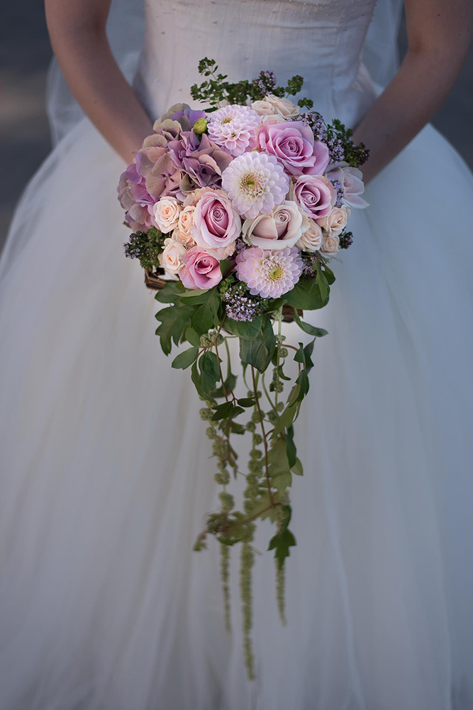 Bouquet mariage rose robe