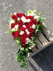 Bouquet funérailles coeur
