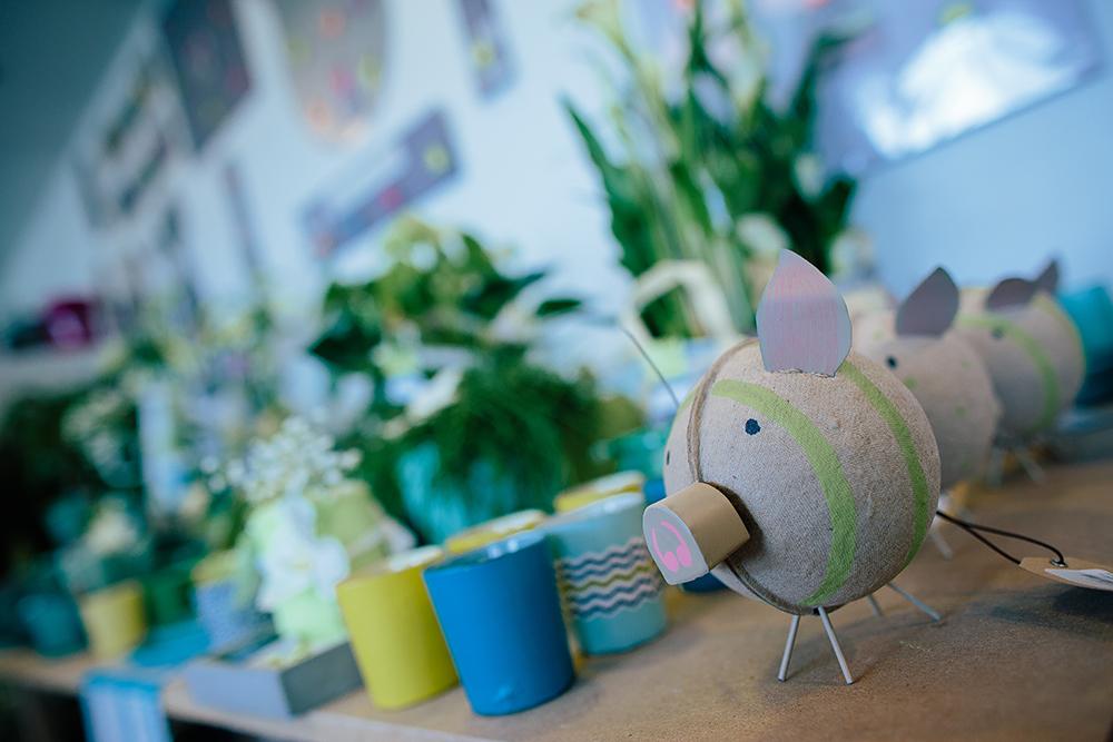 Décoration cochon magasin