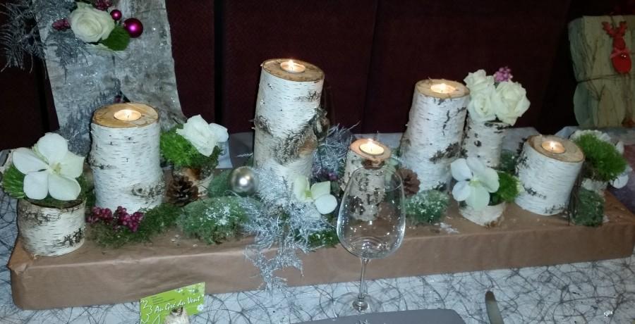 Création Art Floral-FleuristeGembloux-Centre de table de fêtes de fin d'année